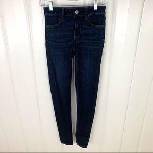 American Eagle: Dark wash, skinny jeans
